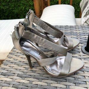 BCBG high heel sandals satin